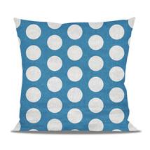 Large Polka Dots on Blue Fleece Cushion - $24.99 - $41.99