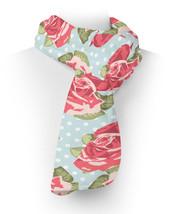 English Roses Blue Polka Dots Fleece Scarf - ₨2,236.55 INR+