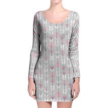 Hipster Arrows Doodled Longsleeve Bodycon Dress - $36.99+