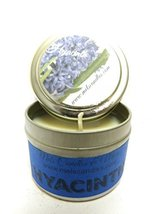 Hyacinth 4 oz Candle Tin All Natural Soy Candle Approximate Burn time 36... - $5.99