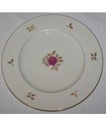 """Lenox Rhodora Dinner Plate 10 1/2"""" Gold Mark Logo Leaves Trim Rose  P-471 - $7.87"""