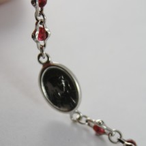 925 SILVER BRACELET WITH RUBY AND VIRGIN MARY MEDAL BY ZANCAN MADE IN ITALY image 2