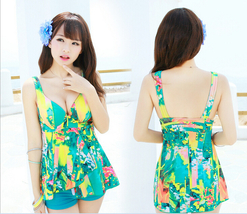 Summer Sunny Women Spandex Beach Conservative Bohemian Style Swimsuit Skirt - $17.90