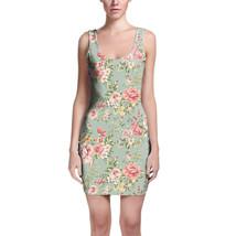 Pastel Floral Wallpaper Bodycon Dress - $30.99+