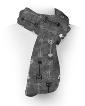 Grey & Lilac Tribal Arrows Fleece Scarf - $43.40 CAD+