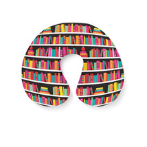 Library Book Case Travel Neck Pillow - $25.22 CAD