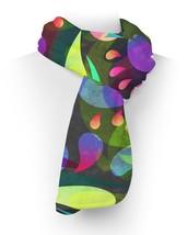 Neon Watercolor Swirls Fleece Scarf - ₨2,236.55 INR+