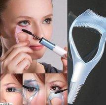 1 pink Eyelash Curler Mascara Guard Applicator Comb Brush Makeup Cosmeti... - €1,97 EUR