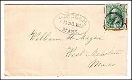 1882 Needham MA Discontinued/Defunct Post Office (DPO) Postal Cover - $9.95