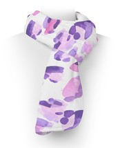 Purple Leopard Print Fleece Scarf - $618,34 MXN+