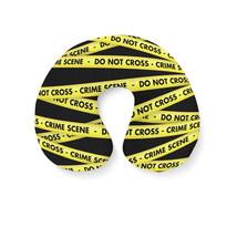 Crime Scene Tape Travel Neck Pillow - €16,35 EUR