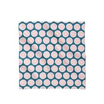 Pink Grapefruit on Navy Satin Style Scarf - ₨1,558.60 INR+