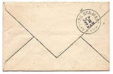 1884 North Vasslboro, ME/Revere MA Discontinued/Defunct Post Office (DPO) Cover