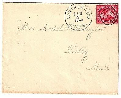 Primary image for 1898 North Orange, MA Discontinued/Defunct Post Office (DPO) Postal Cover