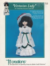 Victorian Lady, Td Creations Crochet Doll Clothes Pattern Booklet TD-859... - $3.95