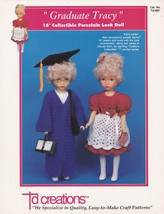 Graduate Tracy, Td Creations Crochet Doll Clothes Pattern Booklet TD-887 - $4.95