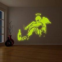 "( 71"" x 59"" ) Banksy Glowing Vinyl Wall Decal Giant Fallen Angel with Rome Bo... - $236.60"