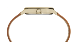 TIMEX Women's Gold Tone New England Leather Strap Wrist Watch CLASSIC TW2R23000 image 3
