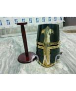 Kaju Katira Medieval Black Templar Crusader Knight Armor Helmet Greek Sp... - $65.00