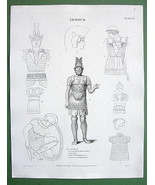 ANCIENT ARMOR Egypt Greece - 1804 A. REES Antiq... - $10.89