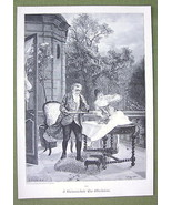 CHESS GAME Interrupted by Wind - VICTORIAN Era ... - $17.82