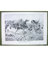 HORSES Going Wild Dangerous Situation - VICTORIAN Era Print Engraving - $17.82