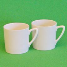 Vintage (1945) Pair Of D.F. Porcelain (Czechoslovakia) White Demitasse Cups - $3.95