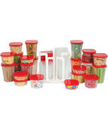 49-Piece Swirl Around Food Storage Container Organizer With Carousel ASOTV - $21.98