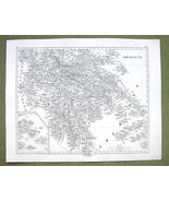 1844 MAP Original Antique - Greece Mediterranea... - $21.78