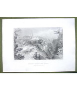 CANADA Indian Village of Lorette - 1841 Engravi... - $14.84