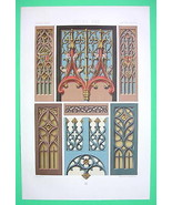 MIDDLE AGES Furniture Woodwork Painted & Gilded... - $17.82