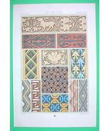 ORNAMENTS Painted Reliefs Middle Ages - COLOR L... - $17.82