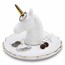 mono living Unicorn Jewelry Easter Dish Ring Holder Tower Earring Tray C... - $23.52