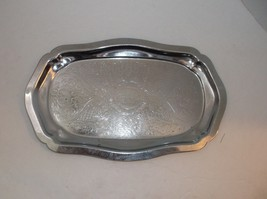 Vintage Danny Wilson Silver Plated Serving Tray... - $14.85