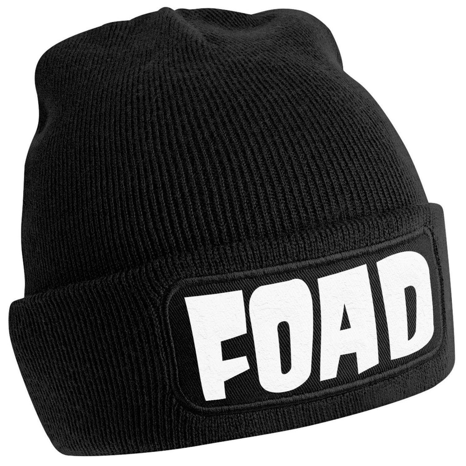 "Primary image for FOAD Beanie Hat - 100 percent Acrylic with cotton twill screen printed patch ""-"