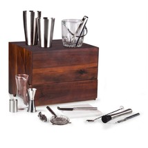 Picnic Time Madison Travel Bar, Cherry-Stained - $400.25