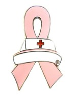Breast Cancer Pin Pink Awareness Ribbon Nurse C... - $10.97