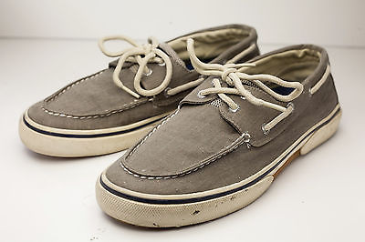 Primary image for Sperry Top-Sider 9.5 Gray Boat Shoes Men's