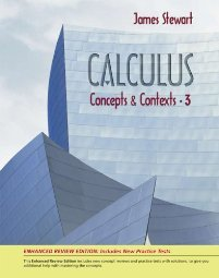 Calculus Concepts and Contexts by James Stewart 0495384917