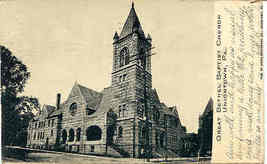 Baptist Church Uniontown Pennsylvania 1906 Post Card  - $5.00