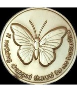 If Nothing Changed There'd Be No Butterflies Bronze Butterfly Medallion ... - £1.16 GBP