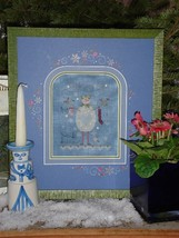 Blue Snowman winter holiday cross stitch kit Shepherd's Bush - $30.00