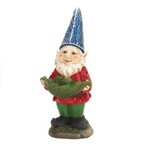 Gnome, House Door Miniature Garden Gnomes Statues Solar Funny - $31.83