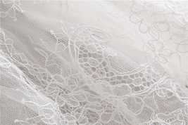 White Bridal Lace Top-Off Shoulder Crop Sleeve Fitted Lace Shirt-Plus Size,White image 2