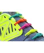 No Tie Shoelaces: Hickies..Neon Rainbow  - $19.99
