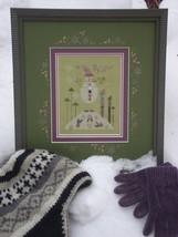 Green Snowman winter holiday cross stitch kit Shepherd's Bush - $30.00