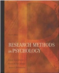 Research Methods In Psychology by ShaughnessyJohn 0072986220