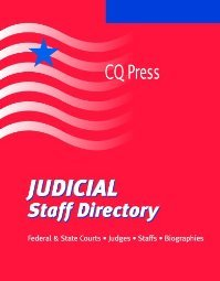Judicial Staff Directory  by Driggens 087289648X