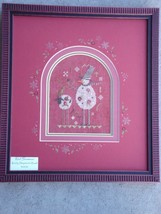 Red Snowman winter holiday cross stitch kit Shepherd's Bush - $30.00