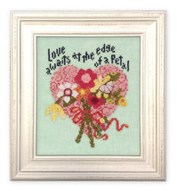Love Awaits ATH1004 button pack + Art To Heart cross stitch chart JABC - $14.40